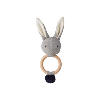 LIEWOOD Rabbit rattle - Grey melange