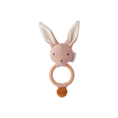LIEWOOD Rabbit rattle - Rose