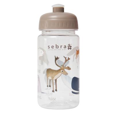 4e0622ca7a1 SEBRA Drinkfles arctic animals – Soil brown | Meneer Peer