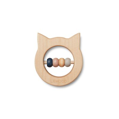 LIEWOOD Wood teether - Cat natural