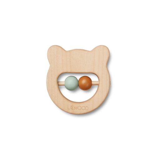 LIEWOOD Wood teether - Bear