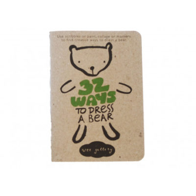 wee gallery activity book bear
