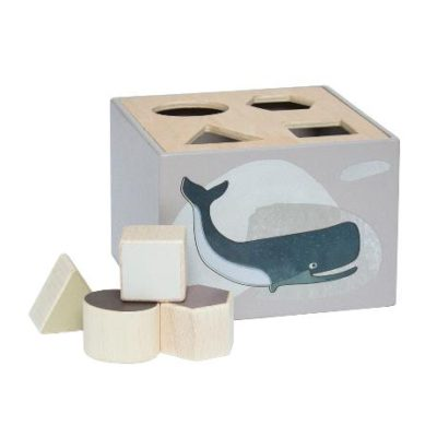 SEBRA Wooden shape sorter - Arctic animals