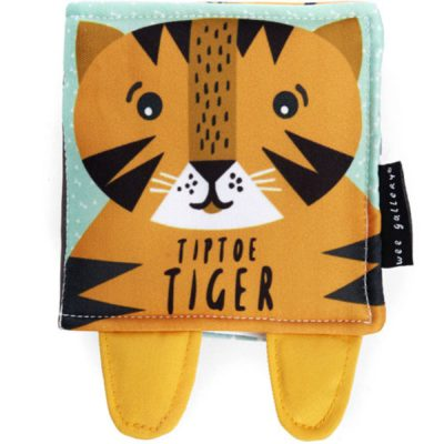 wee gallery soft book tiger