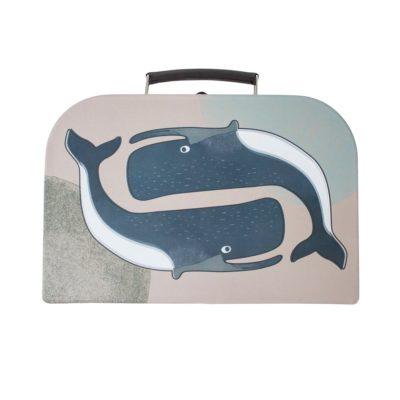 SEBRA Koffer - Roze walvis