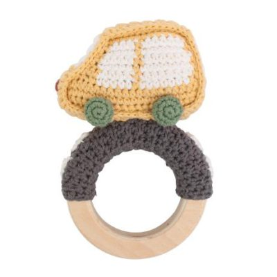 SEBRA Rattle car - Yellow