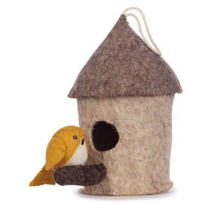 KIDS DEPOT Vogelhuisje mus - Oker