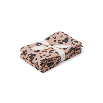 liewood muslin cloth leopard rose