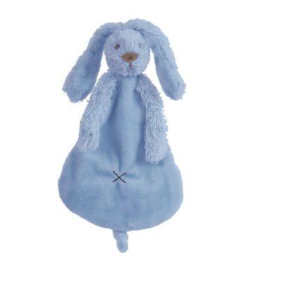 HAPPY HORSE Rabbit Richie knuffeldoekje (Deep Blue)