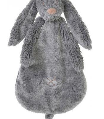 HAPPY HORSE Rabbit Richie knuffeldoekje (Deep Grey)
