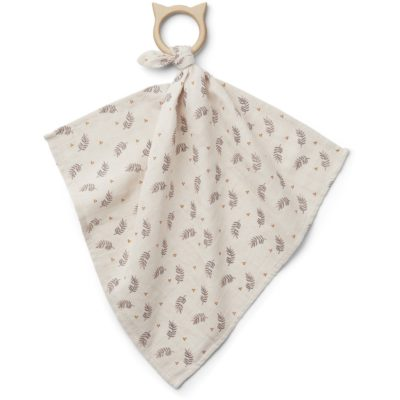 LIEWOOD teether cuddle cloth fern rose