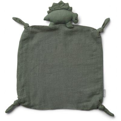 Liewood cuddle cloth dino faune green