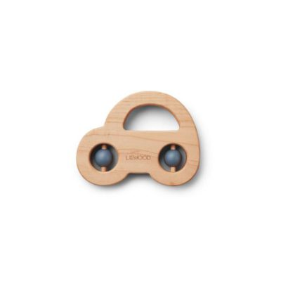 LIEWOOD Wood teether - Car blue wave
