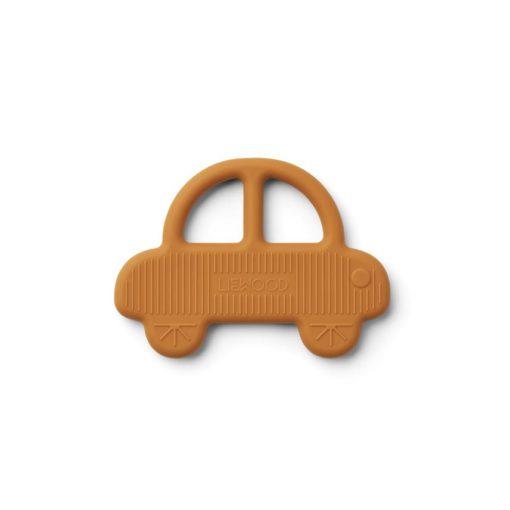 liewood gemma teether car mustard