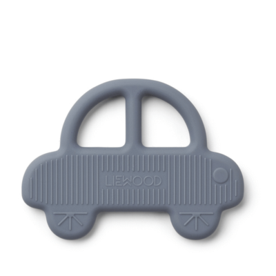 liewood silicone teether car blue wave