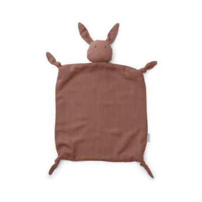 LIEWOOD Cuddle cloth rabbit dark rose
