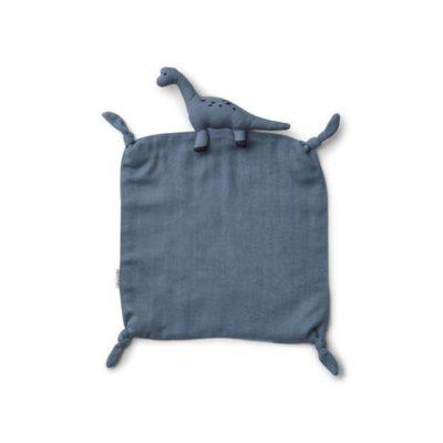 liewood dino cuddle cloth blue wave