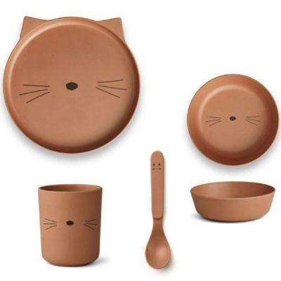 LIEWOOD Bamboe Servies - Cat Terracotta