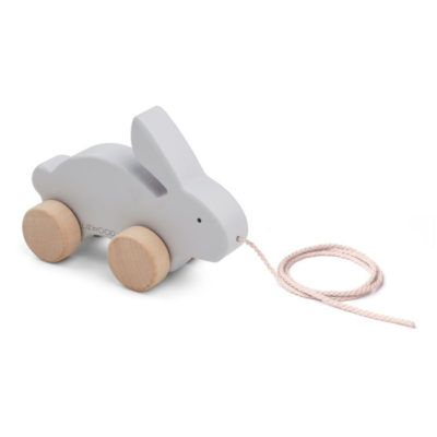 LIEWOOD Abby Pull Along Toy - Rabbit Dumbo Grey