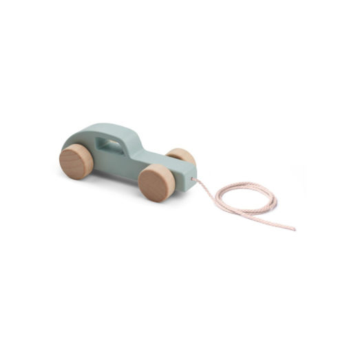 LIEWOOD Abby Pull Along Toy - Car Dusty Mint