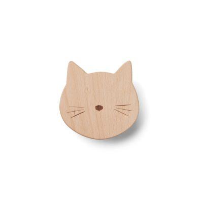 LIEWOOD Wandhaak - Cat Natural vooraanzicht