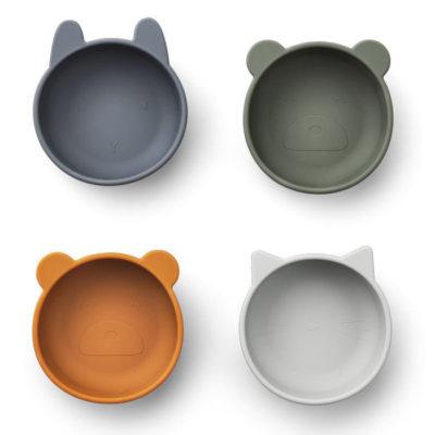 LIEWOOD Iggy Silicone Bowls blauw