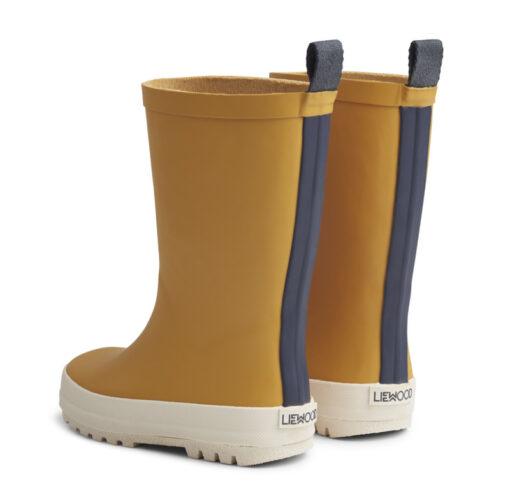 LIEWOOD River Rain Boot geel zijkant