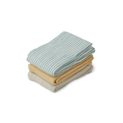 liewood muslin cloth sea stripe blue