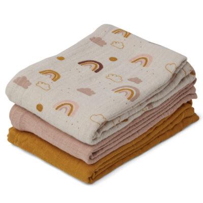 Liewood muslin cloth rainbow mix