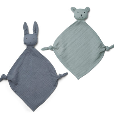 LIEWOOD Yoko Mini Cuddle Cloth – Blue Mix (2-pack)