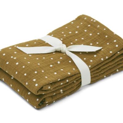 Liewood muslin cloth lewis confetti olive