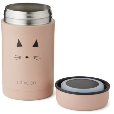 liewood food jar bernard cat rose