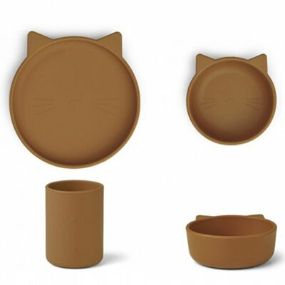 liewood cyrus junior set mustard cat