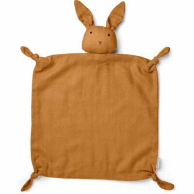 agnete cuddle cloth mustard rabbit liewood