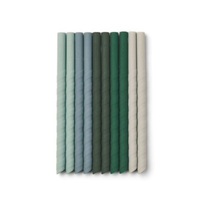 LIEWOOD Timoti straw set – Green (10 pack)