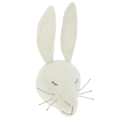 FIONA WALKER Dierenkop - Sleepy White Rabbit