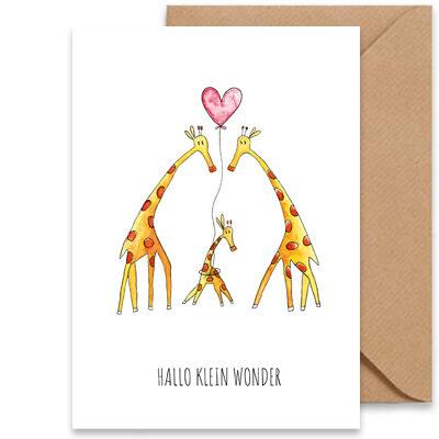 juulz wenskaart geboorte giraffen