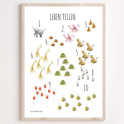 JUULZ Poster - Leren Tellen
