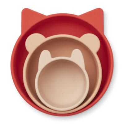 LIEWOOD Bowls Eddie – Apple Red/Rose Multimix