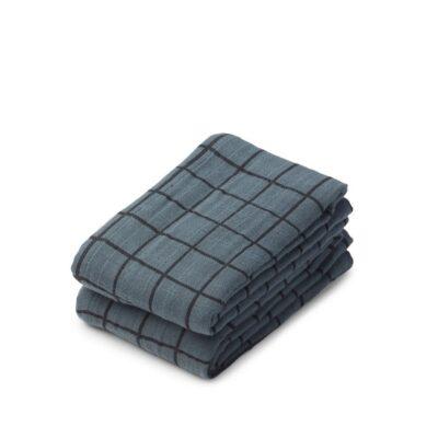 LIEWOOD Lewis Muslin Cloth – Check/Whale Blue