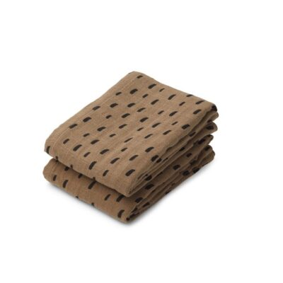 LIEWOOD Lewis Muslin Cloth – Graphic Stroke Khaki