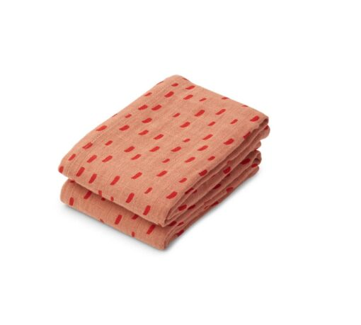 LIEWOOD Lewis Muslin Cloth – Graphic Stroke Tuscany Rose