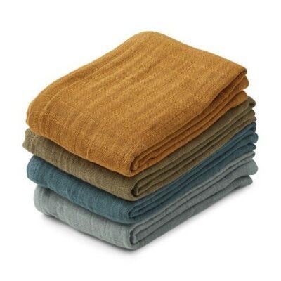 LIEWOOD Leon Muslin Cloth – Whale Blue Multi Mix