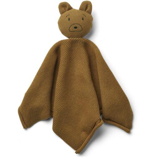 LIEWOOD Knit Cuddle Cloth Milo - Mr Bear Golden Caramel