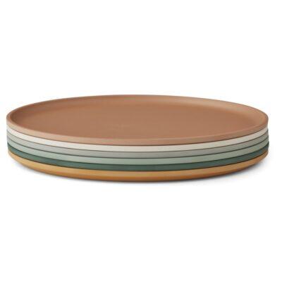 LIEWOOD Logan Plates - Mustard Mix (6-PACK)